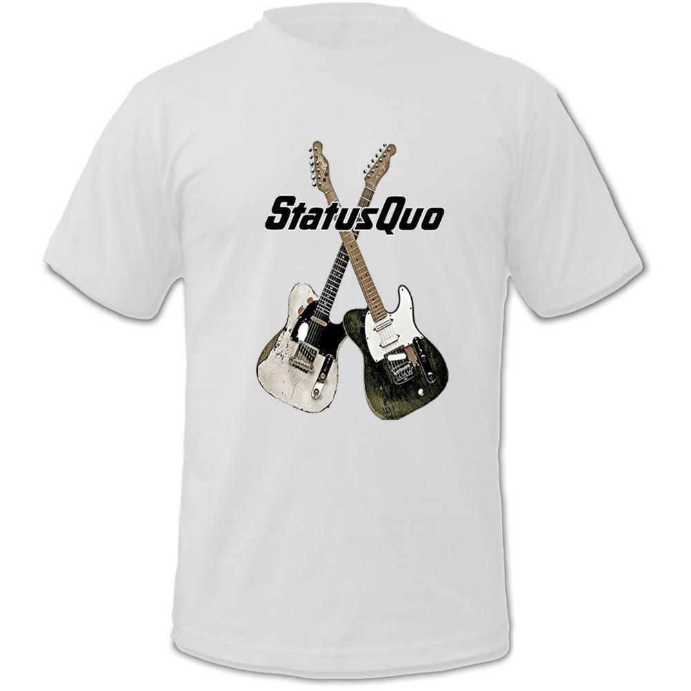 Print Logo On Shirt Mens Status Quo Band Album On The Level
