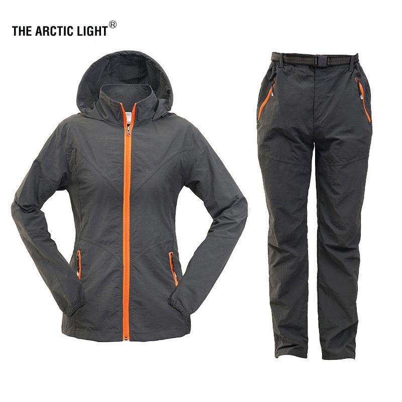 65cdb710891d THE ARCTIC LIGHT Hiking Shirt Pants Women Child Outdoor Sun Protection  Quick Dry Sports Suit Breathable Long Sleeve Set Clothing C18111401 Online  with ...