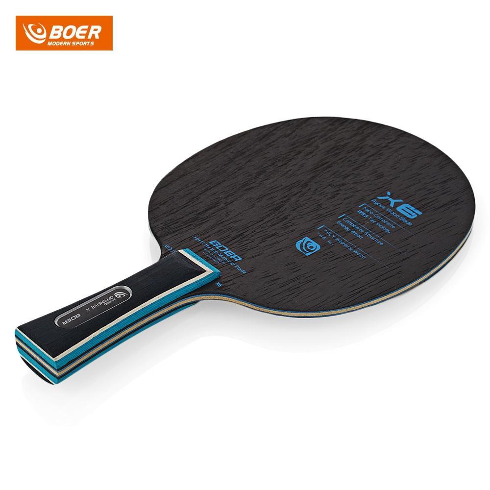 Best Boer X6 Ping Pong Racket Table Tennis Paddle Bat Long Handle Or ...