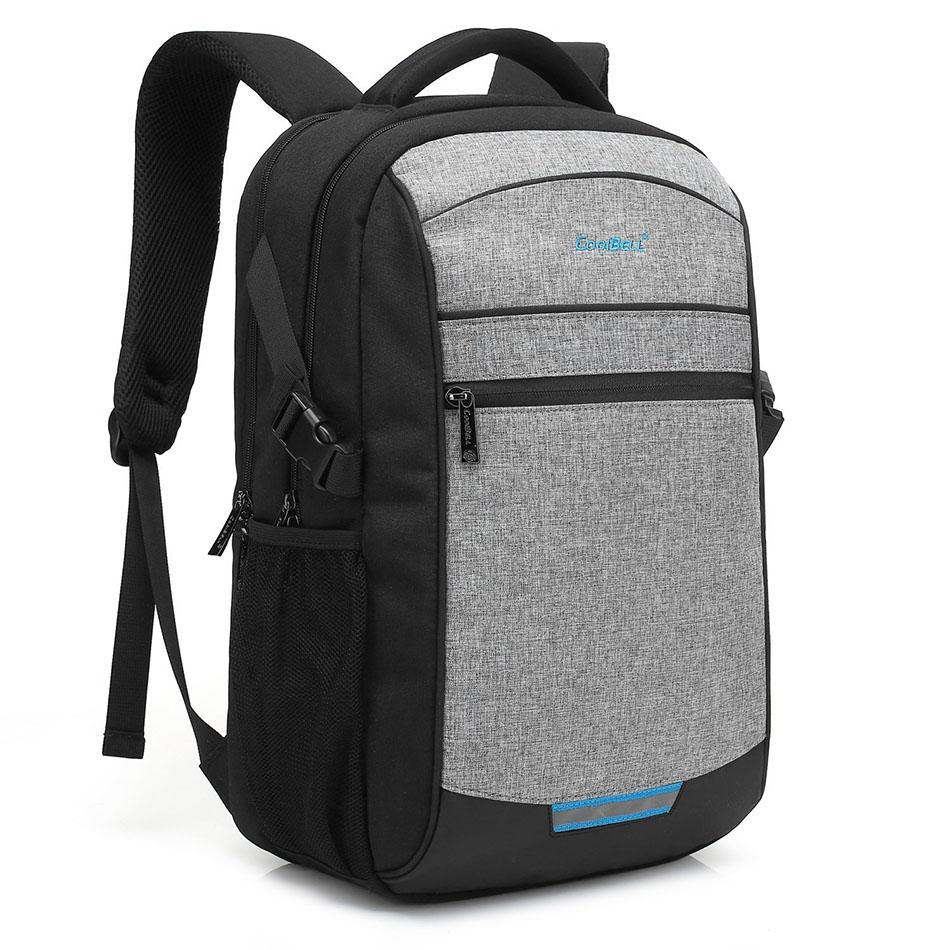 b4c46e2ef4 2019 CoolBell Large Capacity Men Backpack For 15 17 Inch Laptop Backpack  Women Waterproof College Students School Bags Mochila From Sophib, $98.1 |  DHgate.