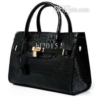 45f445735b5f 2015 New Fashion Designers Brand Crocodile Pattern Women s Tote ...