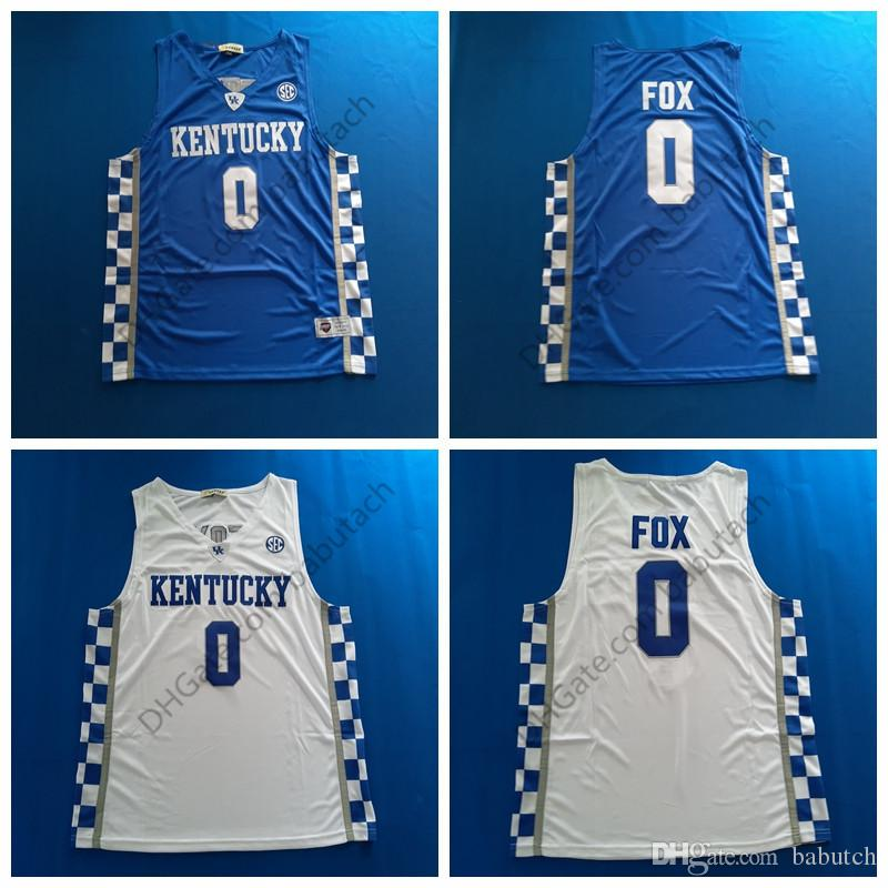 d18f52860 2019 Vintage Kentucky Wildcats College Basketball Jerseys #0 DeAaron Fox  Baseketball Jersey Stitched White Blue S 3XL Mens From Babutch, $16.09 |  DHgate.Com