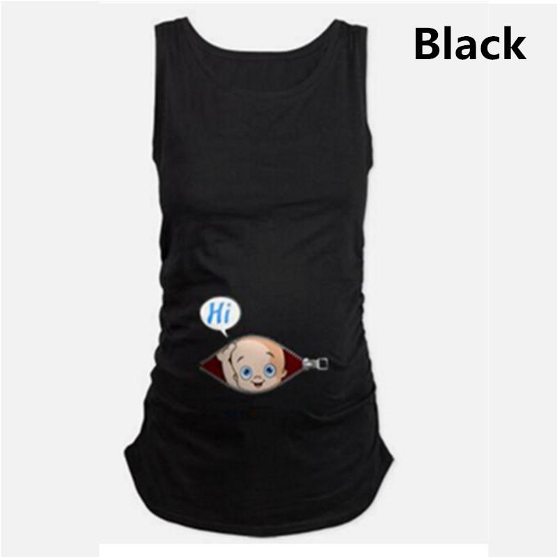 ee0d5830cb651 2019 Maternity T Shirts Cotton Baby Printed Sleeveless Loose Tank Tops  Women Tshirt Pregnancy T Shirt Summer Pregnant Long Tee Shirts From  Okbrand, ...