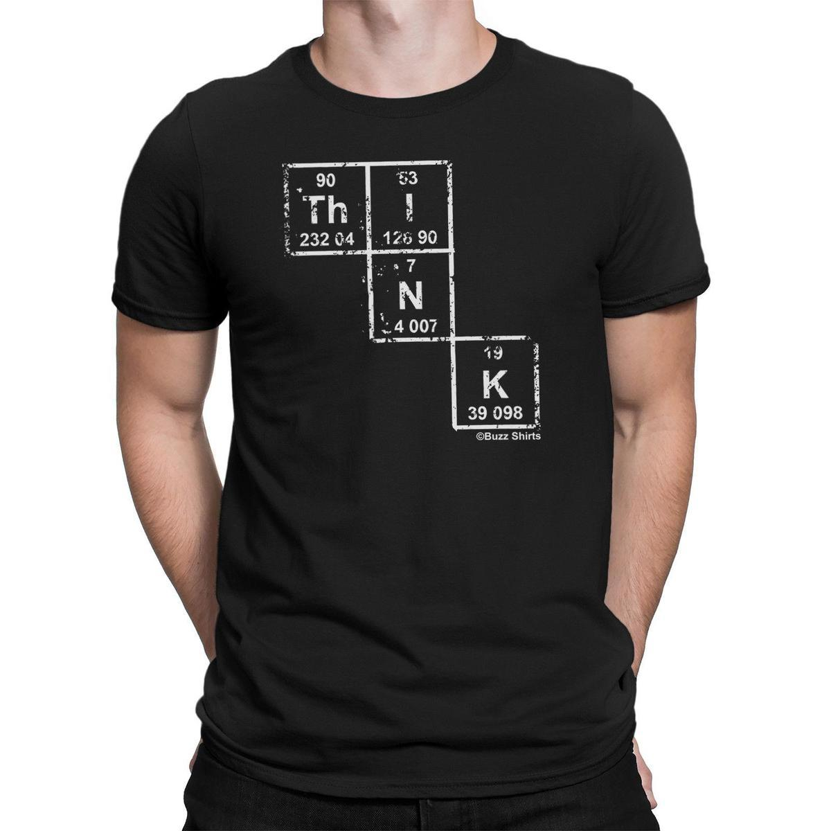 Think Periodic Table Science Humour T Shirt For Men Geeks Nerds