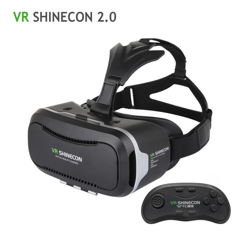 49472e9ed428 VR Shinecon 2.0 3D Glasses Virtual Reality Smartphone Headset Google  Cardboard VR BOX Helmet For Iphone Android 4.7 6  Phone 3d Glasses Free 3d  Glasses ...