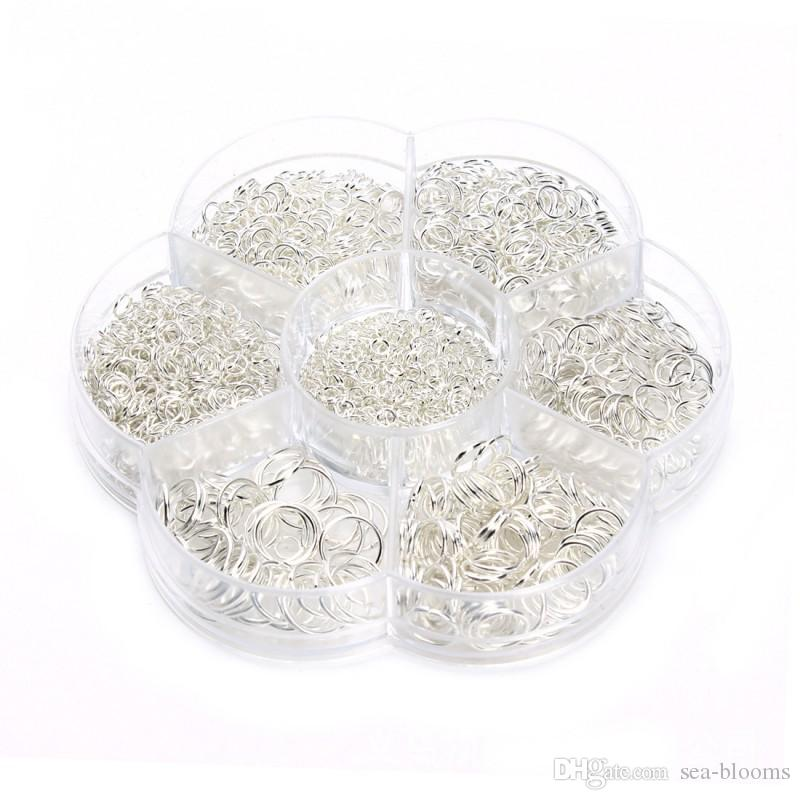 Open Jump Rings For DIY Jewelry Making 3mm 4mm 5mm 6mm 7mm 8mm 10mm /box DIY Jewelry Making G372S