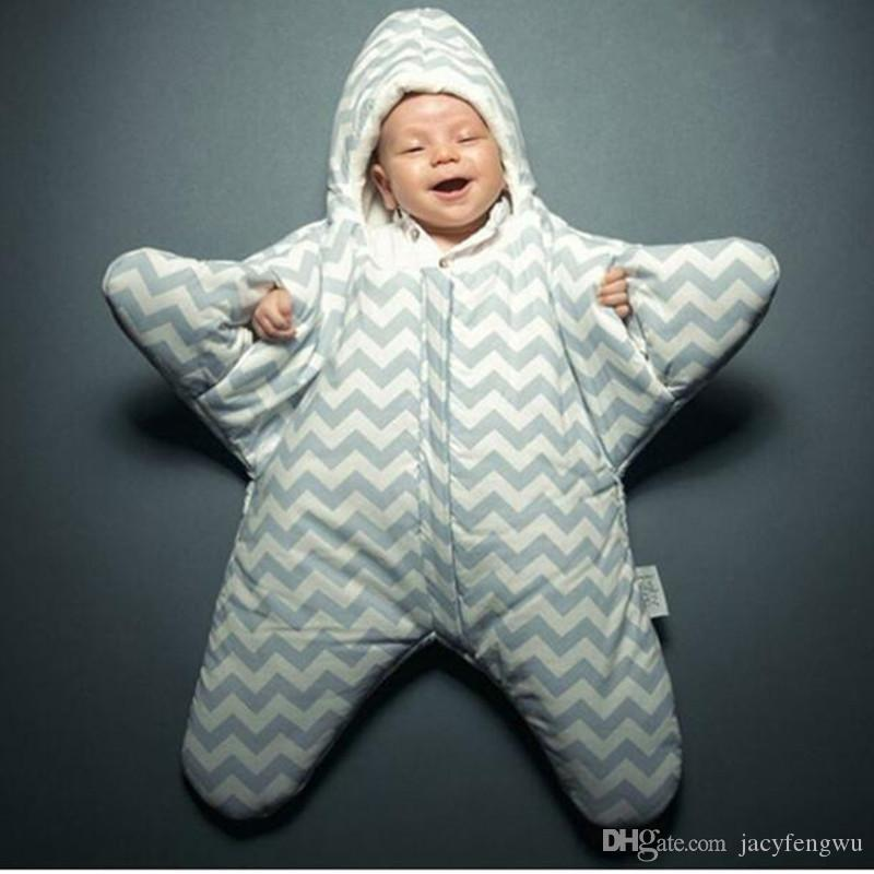 Newborn Baby Starfish Sleeping Bags Cute Cartoon Star Cotton Thick