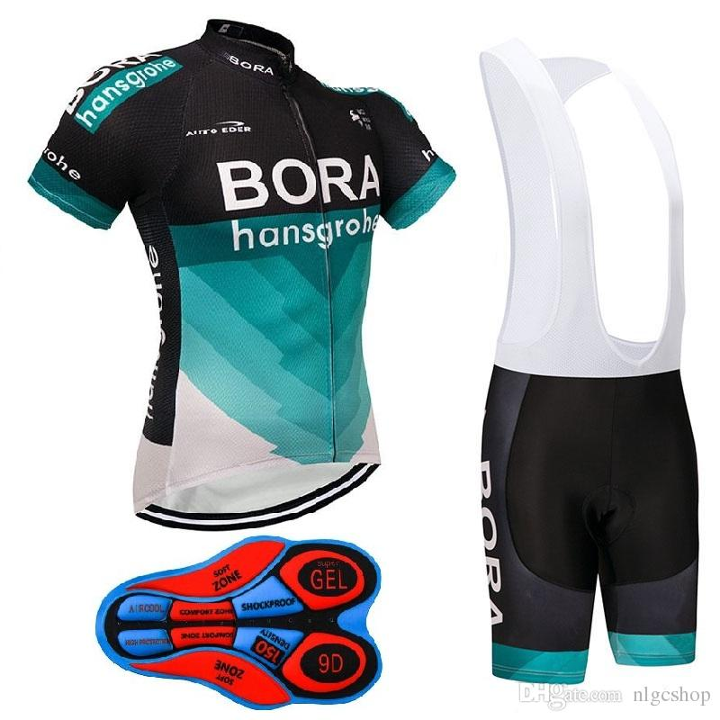 48fc5a46b Summer 2018 Team BORA Cycling Jersey MTB Uniform Bike Wear Clothes Ropa  Ciclismo Pro Cycling Clothing Mens Bib Shorts Set Biking Pants Novelty  Cycling ...