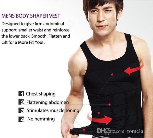 Umidità Slim da uomo all'ingrosso Minus the Beer Belly Shaping Intimo addome Body Sculpting Vest Shapers Body Sculpting T-shirt Body Shaper