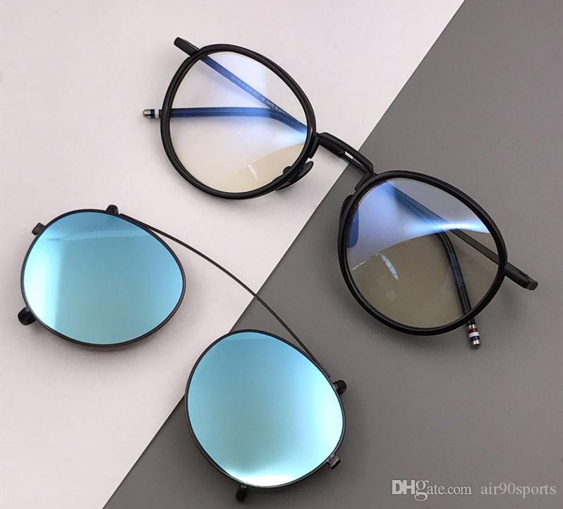 7c45d2cf295 NEW Style High Quality Thom Tb710 Sunglasses + Frame Men And Women TB 710  Black Browne Color With Original Box Cat Eye Sunglasses Round Sunglasses  From ...
