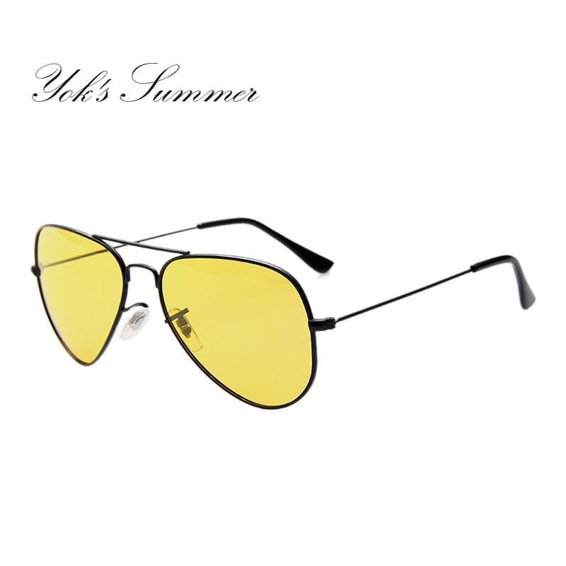 55beb0cc539 Yok S Night Vision Glasses Polarized Sunglasses Men Women Pilot Metal Frame  Yellow Sun Glasses Driving Goggles UN103 Running Sunglasses Sunglasses Case  From ...