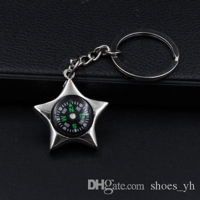 New 2018 Personalized Keychain Creative Gift feet Compass Opener Key Chain Accessories keychain solid motorcycle keychain