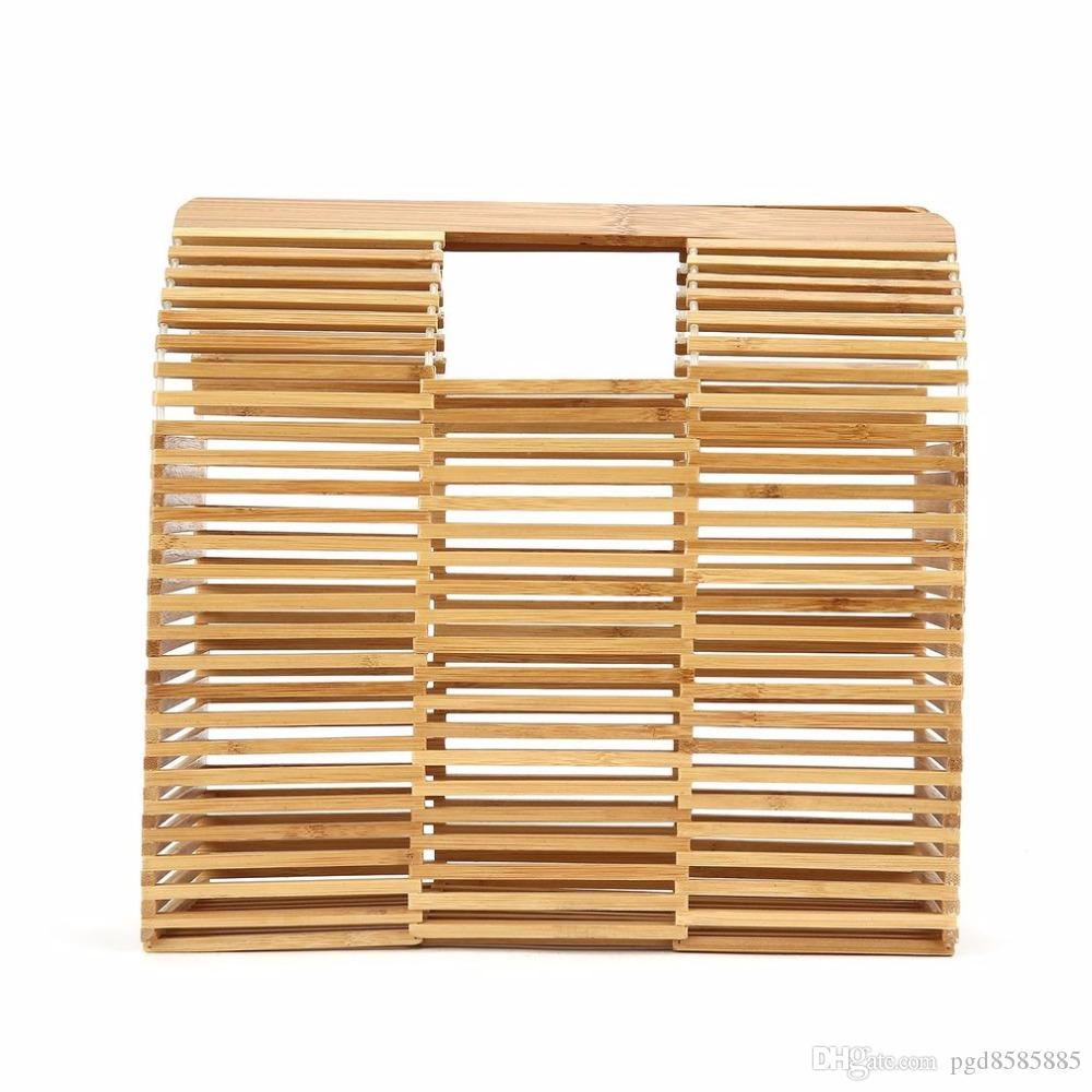 9ef1eba884 2018 Hot Sale Luxury Designer Beach Bag Fashion Bamboo Bag Women Travel  Straw Tote Clutch Trunk Ladies Woven Handbags For Girl Beach Bags Leather  Handbags ...