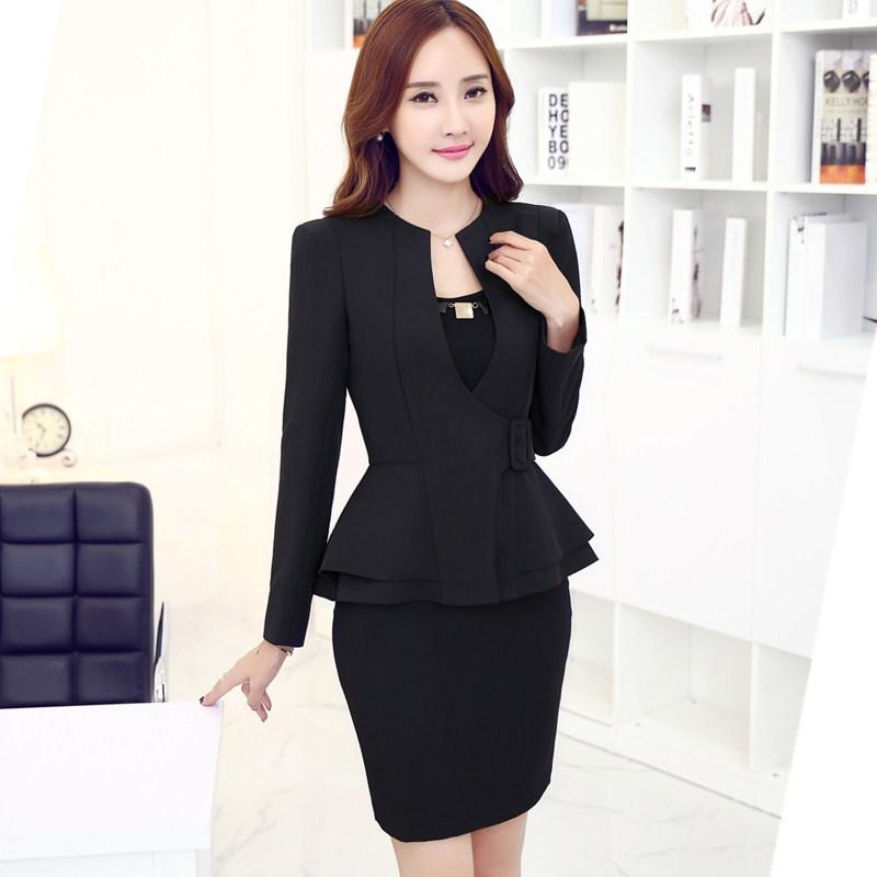 2019 Professional Formal OL Styles Blazer Suits Long Sleeve With Jackets  And Skirt For Ladies Blazers Outfits Autumn Winter Plus Size From Maoyili 9c27e0ecd
