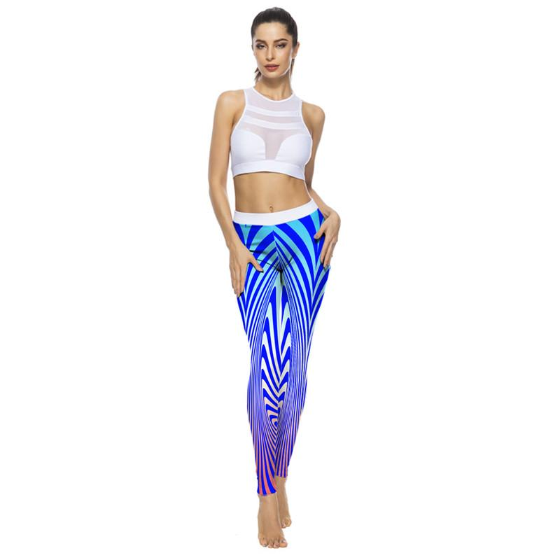 0ced002096 3D Floral Printed Yoga Pants Sports Leggings Women Breathable Fitness  Elastic Running Pant Women's Sport Quick Suck Sweat cloth