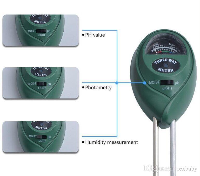 3 in 1 Digital PH Meter plants Flowers Soil Water Light Tester Sensor Monitor for Aquarium Indoor Garden Plant Flowers PH meter