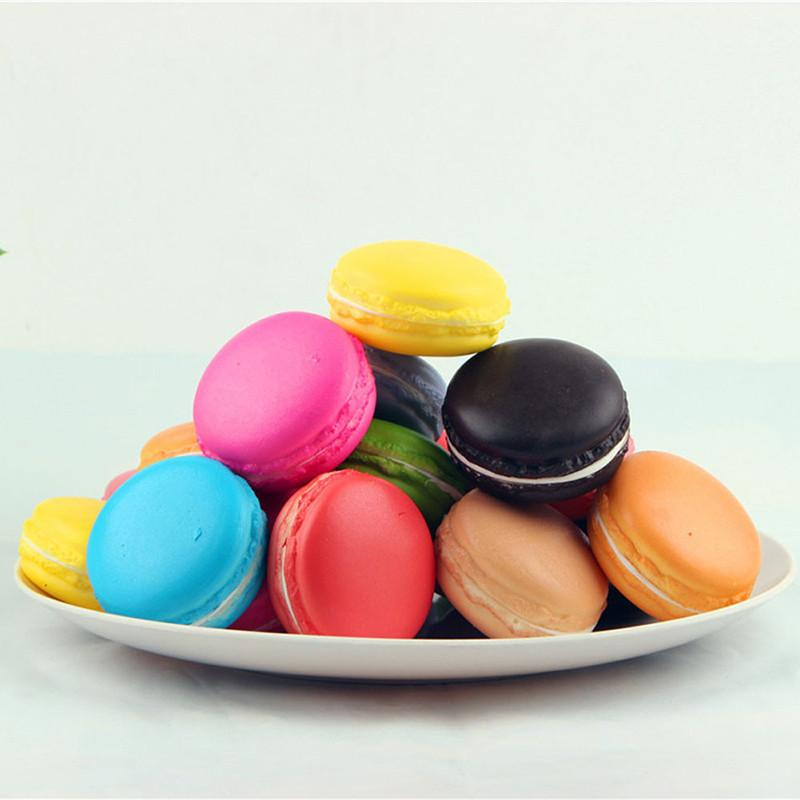 1P Cute Kawaii Soft Squishy Simulation Macaron Food Squishy Super Slow Rising Kid Toy Decompression Toys Stress Reliever Decor