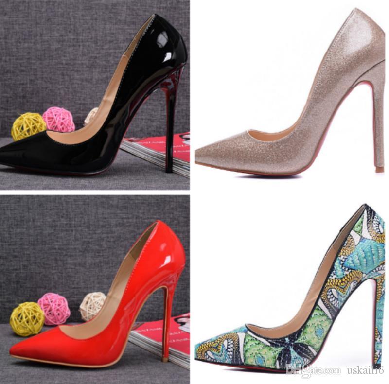 0945a716079d0e Acheter Hot Style Fashion En Cuir Pointe De Talon Aiguille Talons Noirs  Sauvages Haut Luxe Chaussures De Femmes Haut De Gamme De Qualité Des Ventes  Directes ...