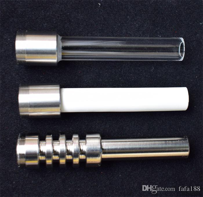 Enfilez titane quartz ongles Conseils en céramique pour Nectar Collector Vaped Micro NC V4 Kit Gr2 Titanium