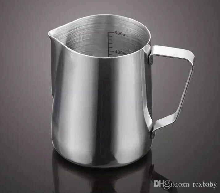 350 ML Professional Stainless Steel Coffee Cup Milk Frothing Pitchers With Measurement Marking Baking Coffee Tea for baking kitchen tools