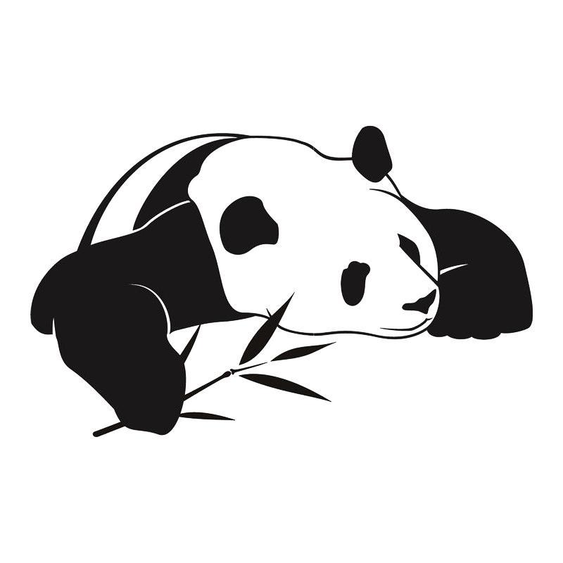Satın Al Panda Duvar çıkartmaları Sevimli Hayvan Duvar çıkartmaları