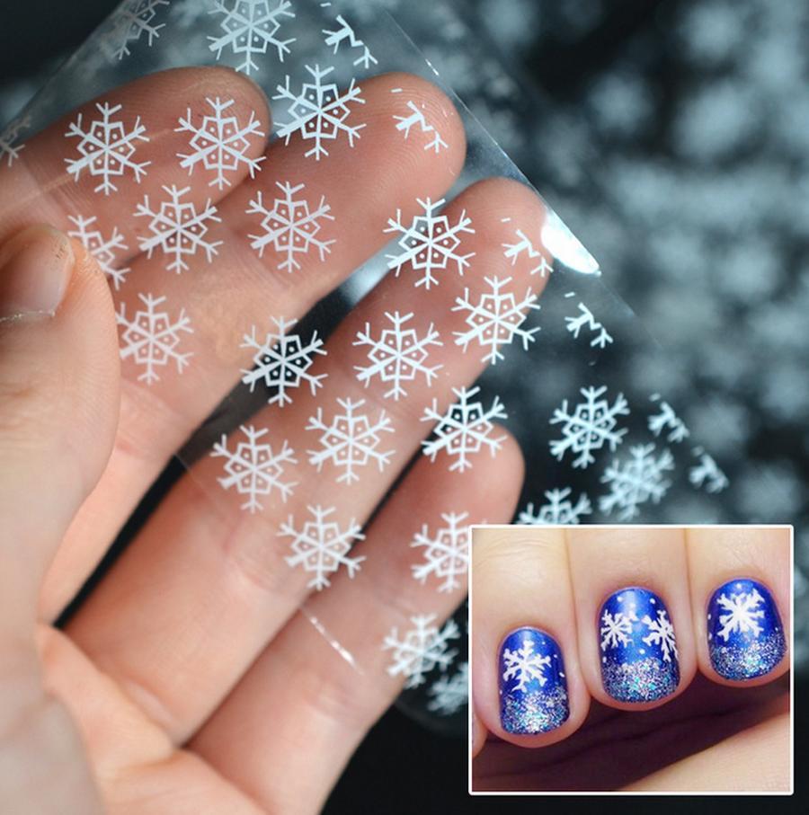 By Dhl Or Ems Snowflake Nail Foil White Snow Christmas Design Nail