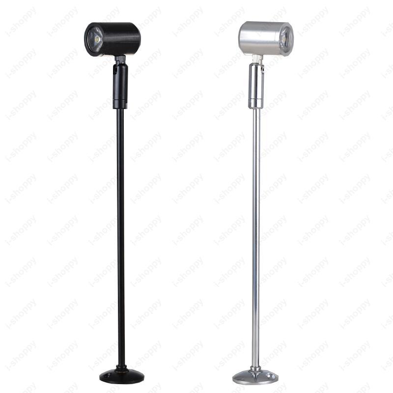 Noir Projecteur Led Vitrine Exposition Pole Base Stand Tableau Light Store Avec Argent 3w Téléphone Bijoux Shell Lampe dBshQxtrCo