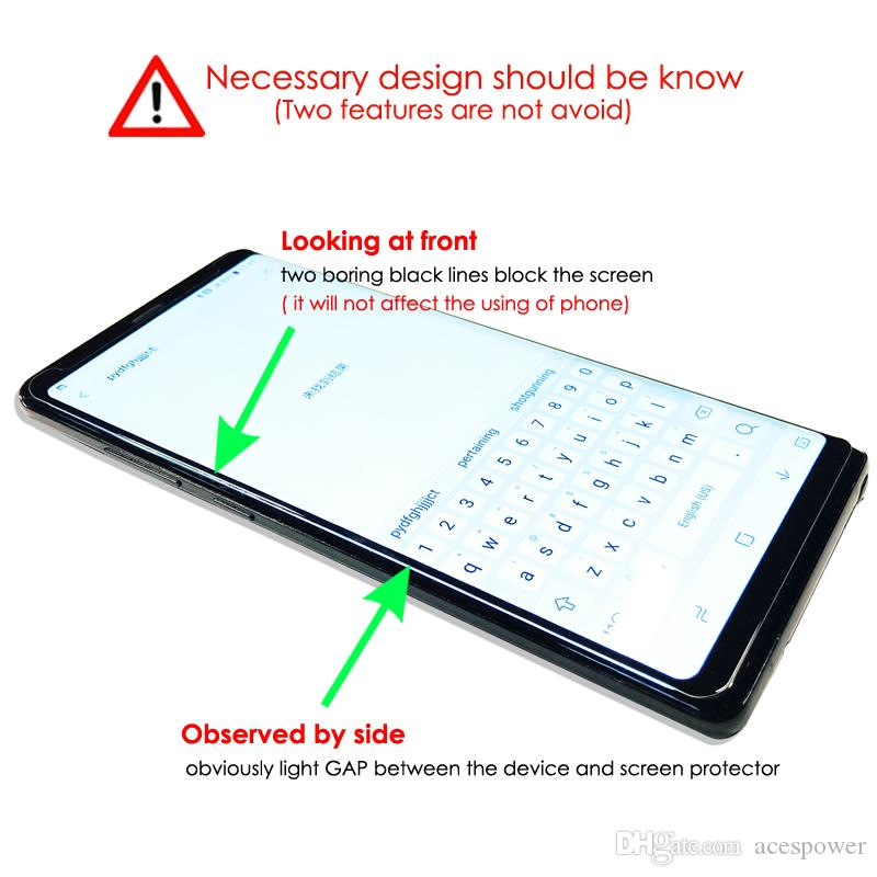 Full Adhesive Glue Case Friendly Tempered Glass 3D Curved For Samsung Galaxy S21 S20 Ultra S10 S9 Note 10 9 S8 Plus Oneplus