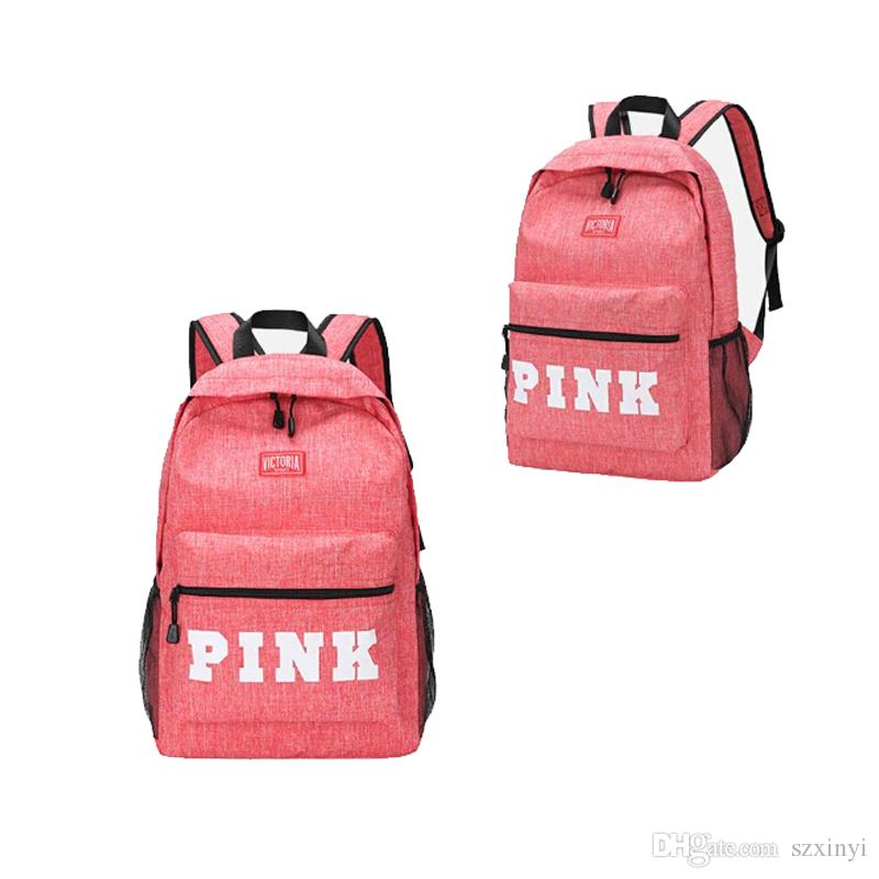 68e0d35478 2019 Hot Product PINK Letter Backpacks 2018 Student Fashion Large Female  Travel Backpacks For School Bag Outdoor Travel Bags From Szxinyi
