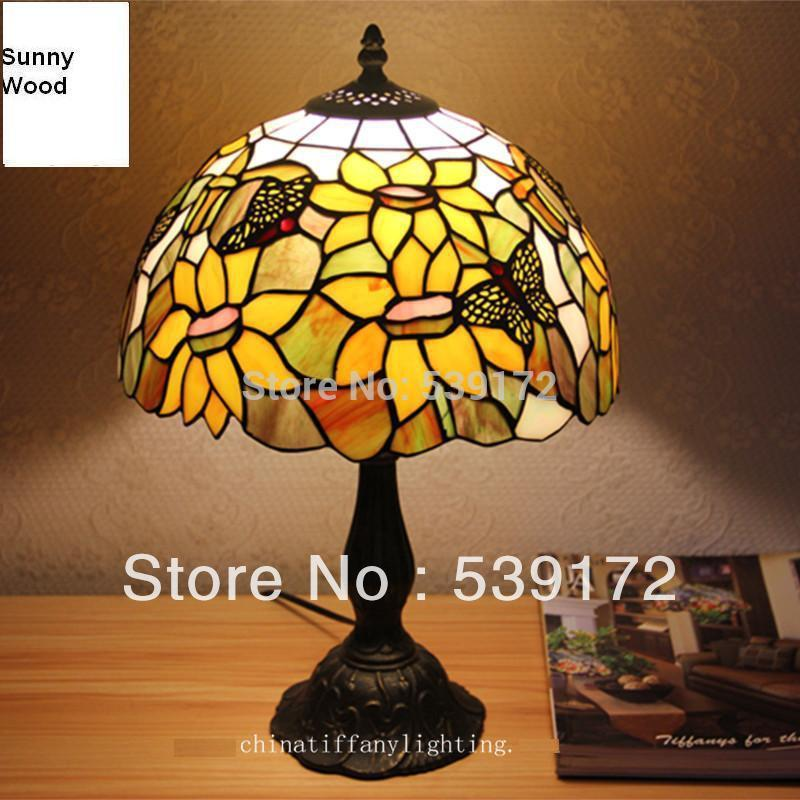 Best 12inch Shell Lamp Tiffany Lamp Free 5w E27 Led Bulb For