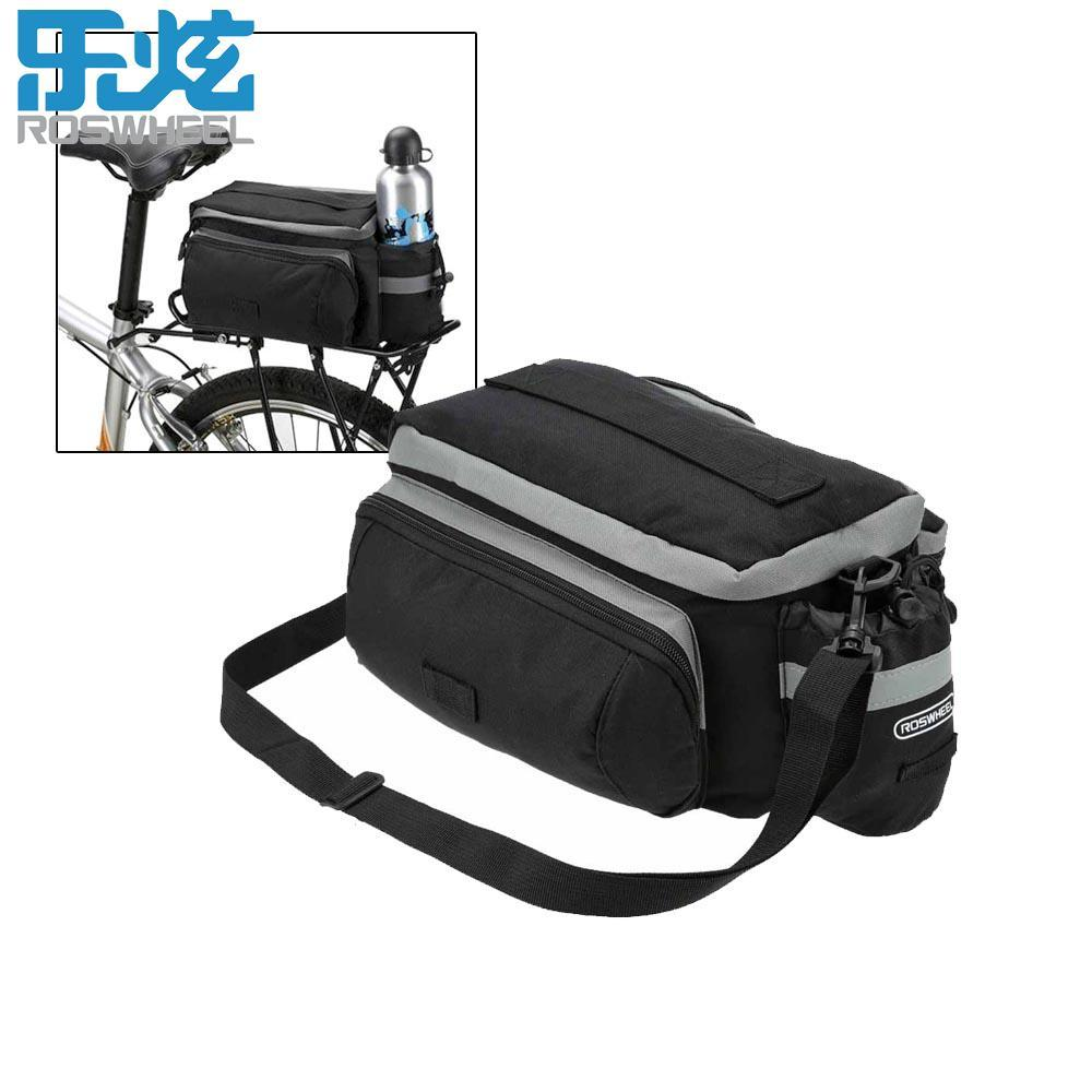 Bicycle Accessories Roswheel New Bicycle Bags 13l Cycling Bike Pannier Rear Seat Bag Rack Trunk Shoulder Handbag Black With Rain Cover A Great Variety Of Models Cycling