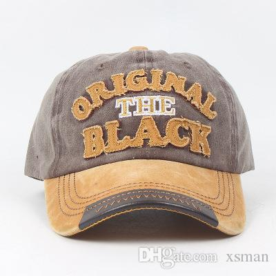 985fa25d20a Europe And the United States New Washed Letters Baseball Cap Men s ...