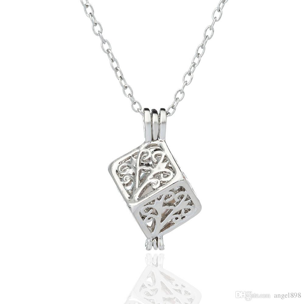 Angel bola Free 13 styles pearl cage pendant Opening cages locket charm Fashion DIY Jewelry mou