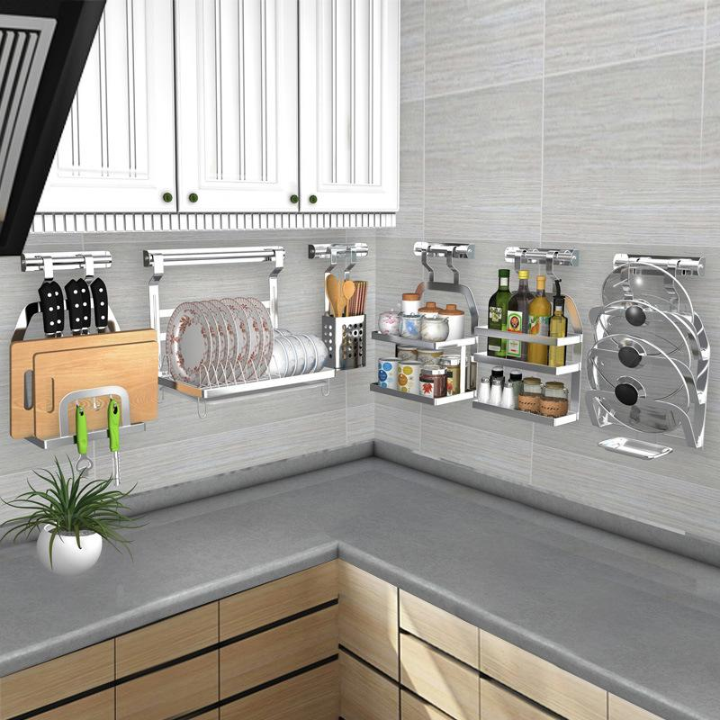 2019 DIY Kitchen Rack Stainless Steel Kitchen Shelf Dish