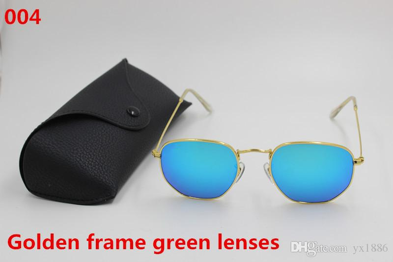 696a73fa2ad New High Quality Fashion Vintage Hexagon Irregular Sunglasses Metallic Frame  Green Reflector Glass Lens UV400 Protected Black Box Sunglass Cheap  Sunglasses ...