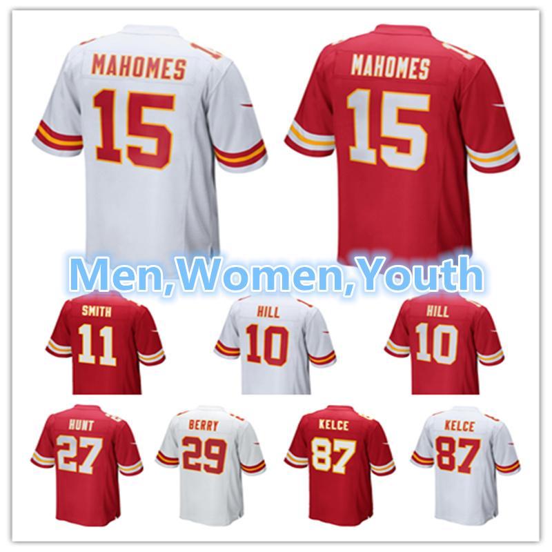 Men Kansas City Chiefs Jersey 87 Travis Kelce 29 Eric Berry 15 Patrick  Mahomes 10 Tyreek Hill 27 Kareem Hunt Jerseys Patrick Mahomes Travis Kelce  Tyreek ... 4862e1625