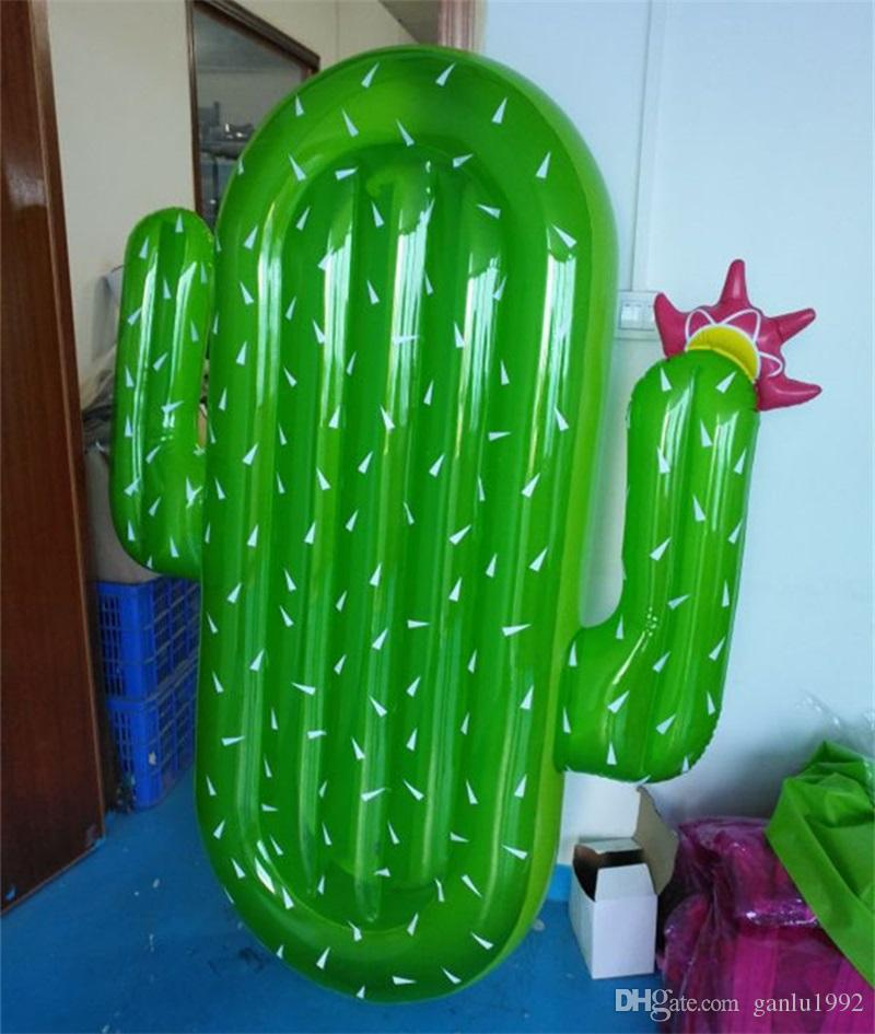 Water Supplies Summer Hot Sale PVC Large Inflatable Cactus Mounts Floats Swimming Circle Fun Beach Games Pad 70rl W