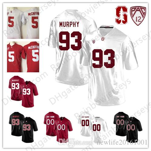 b57f2a3ce 2019 Stanford Cardinal  93 Trent Murphy 22 Cameron Scarlett 82 Kaden Smit  12 Andrew Luck College Football Jerseys PAC 12 Black Red White S 3XL From  ...