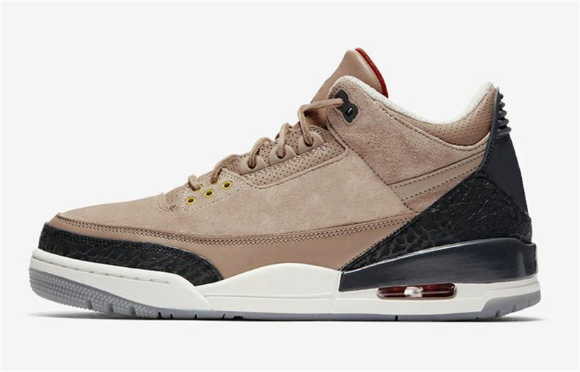 2018 Hottest D7jordan 3 Jth Bio Beige Basketball Shoes Authentic