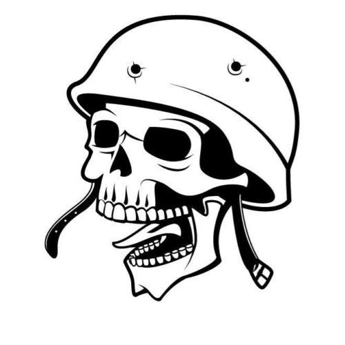 Skull With Bullets And Bullet Hole Car Sticker Vinyl Car Packaging
