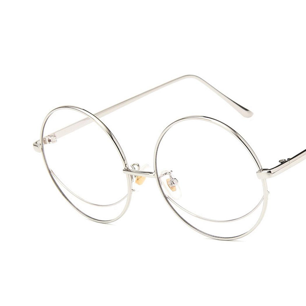 2b9f7da8f4 2019 2018 Vintage Oversized Eyeglasses Frame Clear Lens Metal Frame Round  Glasses Women Men Classic Flat Mirror Glasses Oculos From Zaonoodle