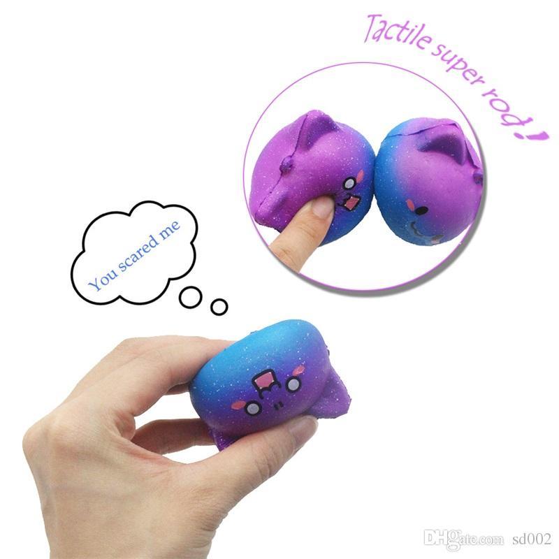 Cielo stellato pane squishy squeeze giocattolo carino amore forma squishies strap telefono ciondolo pendente giocattoli decompressione 3 99js c