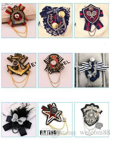 10 teile / los Mix Stil Mode Kristall Broschen Pins Für Schmuck Handwerk Geschenk BR05