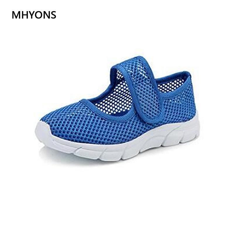 6bd7ed9cd MHYONS Top Venda de Verão 5 Cor Crianças Sapatos Meninos Das Sapatilhas Do  Bebê Meninas Net Respirável Sapatos Casuais Esporte Crianças Sapatos Macios
