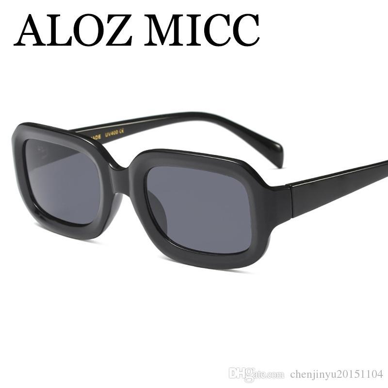 Acheter Aloz Micc Mode Carré Lunettes De Soleil Femmes Hommes Vintage  Multicolore Bonne Qualité Lunettes De Soleil Femme Oculos De Sol Uv400 A518  De  11.52 ... d7b7c8015ba8