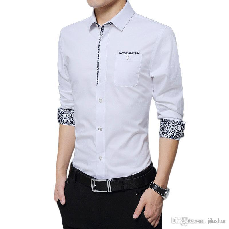 e10d4c0c9b458 Wholesale- Mens Casual Shirts Long Sleeve Shirt Mens Dress Shirts ...