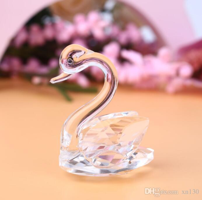 3D Glass Crystal Swan Figurines Decor Crafts Nursery Wedding Ornaments Gift  UK 2019 From Xn130 81681baee