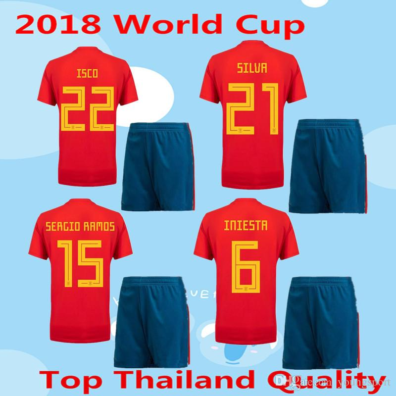 6506ef330 ... 22 isco 20 ase 2018 2018 world cup spain soccer jersey adult kit 2018  spain home
