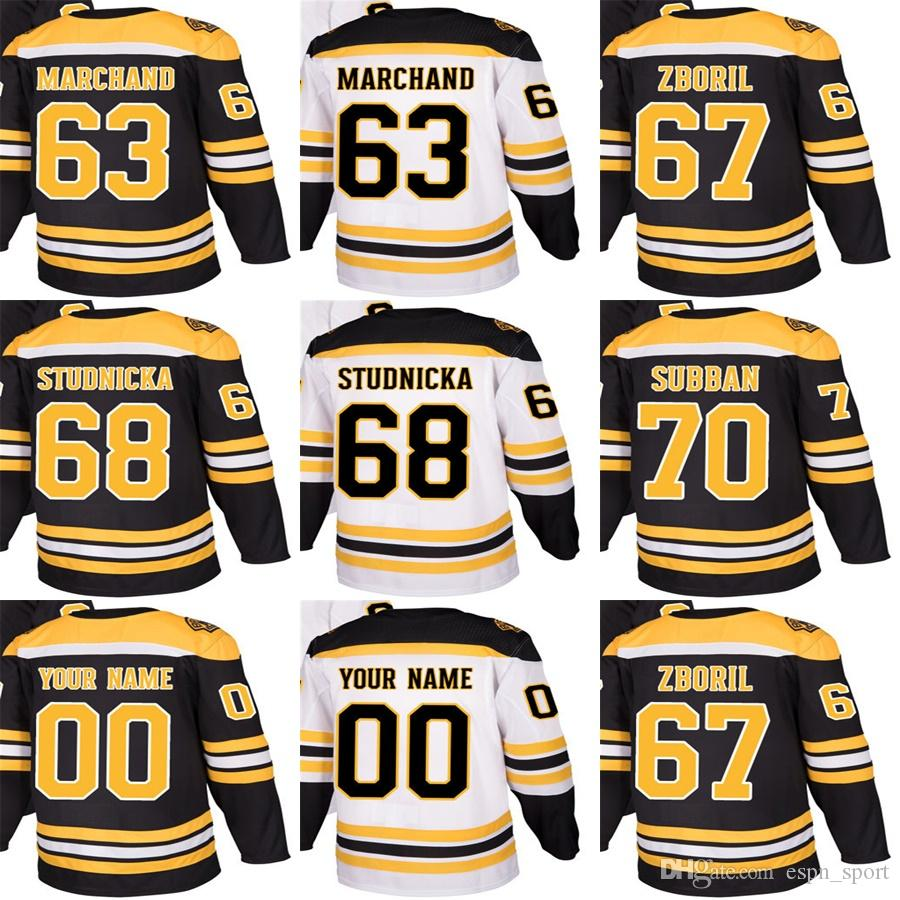 2018 New Brand Adults Boston Bruins 63 Brad Marchand 67 Jakub Zboril ... febecf1f6