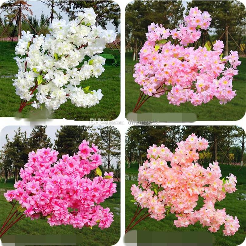 2018 fake waterfall cherry blossom flower branch begonia sakura tree 2018 fake waterfall cherry blossom flower branch begonia sakura tree stem with green leaf 108cm for artificial decorative flowers from dhgotesale mightylinksfo